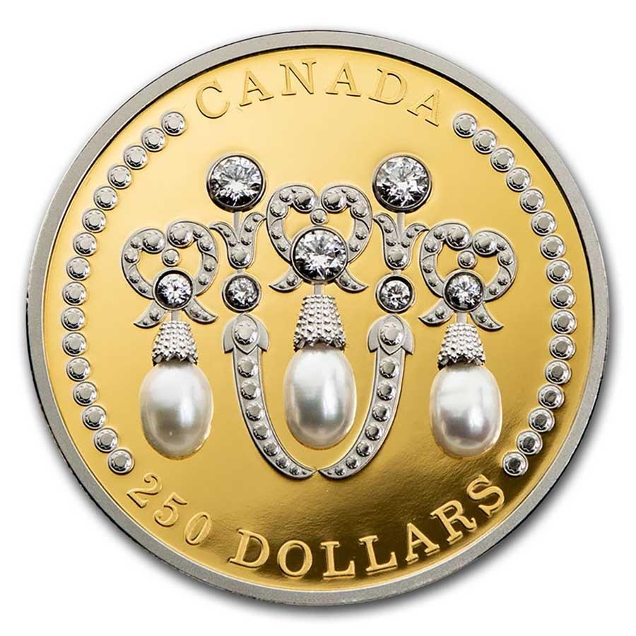 2021 Canada Gold $250 Elizabeth II's Lover's Knot Tiara