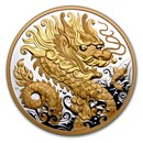 2021 Canada Silver $125 Triumphant Dragon