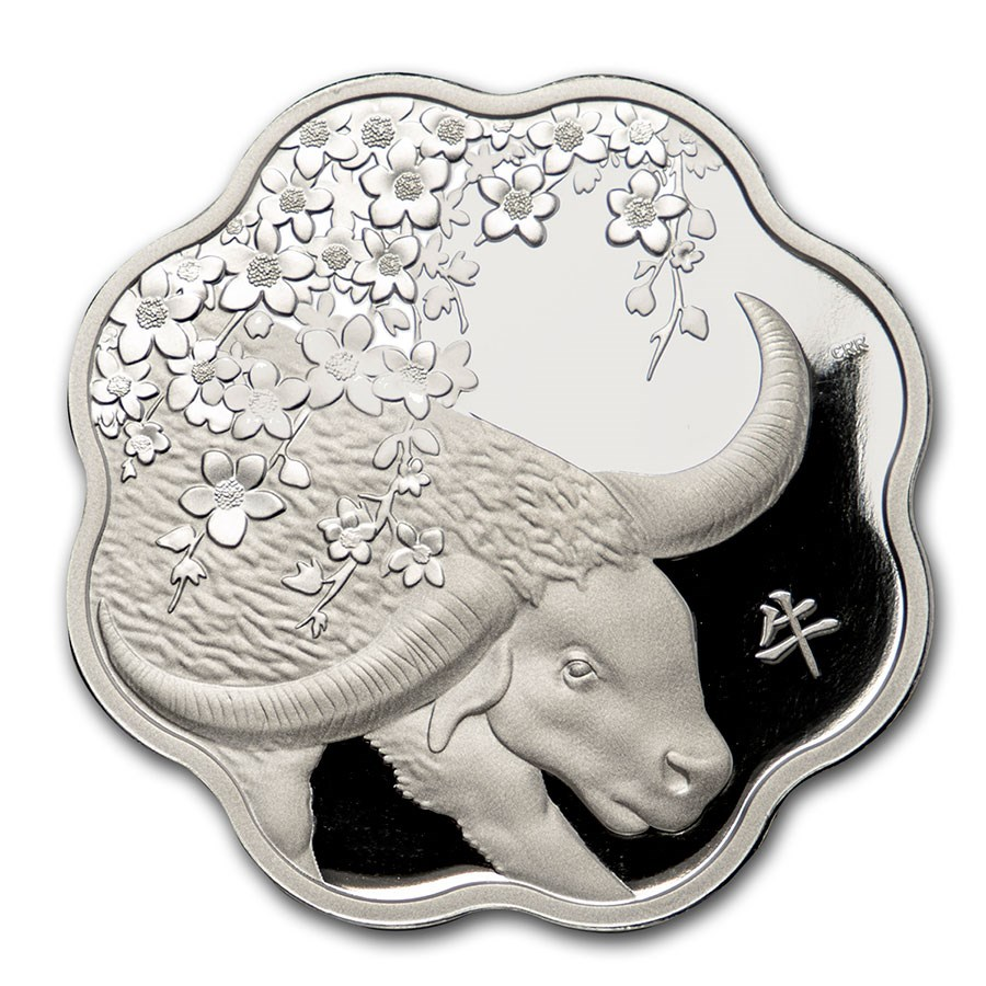 2021 Canada Silver $15 Lunar Lotus Year of the Ox Proof