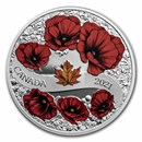 2021 Canada Silver $20 A Wreath of Remembrance: Lest We Forget