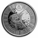 2021 Cayman Islands 1 oz Silver Marlin BU