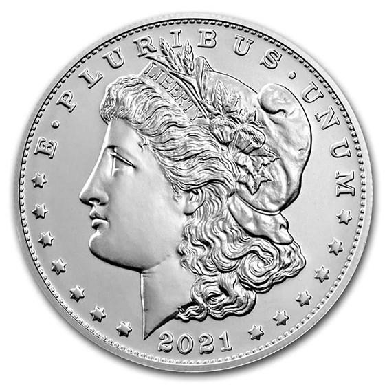 2021-(CC) Silver Morgan Dollar (CC Privy, Box & COA)