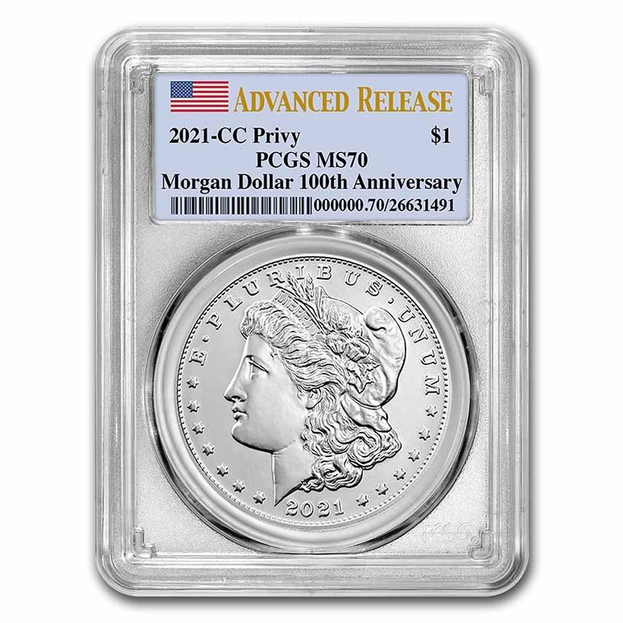 2021-(CC) Silver Morgan Dollar MS-69 PCGS (FirstStrike®)