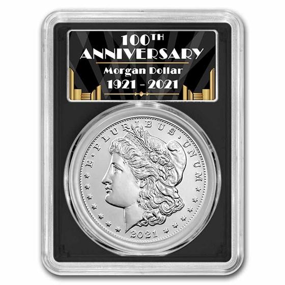 2021-(CC) Silver Morgan Dollar MS-70 PCGS (FDI, Black)