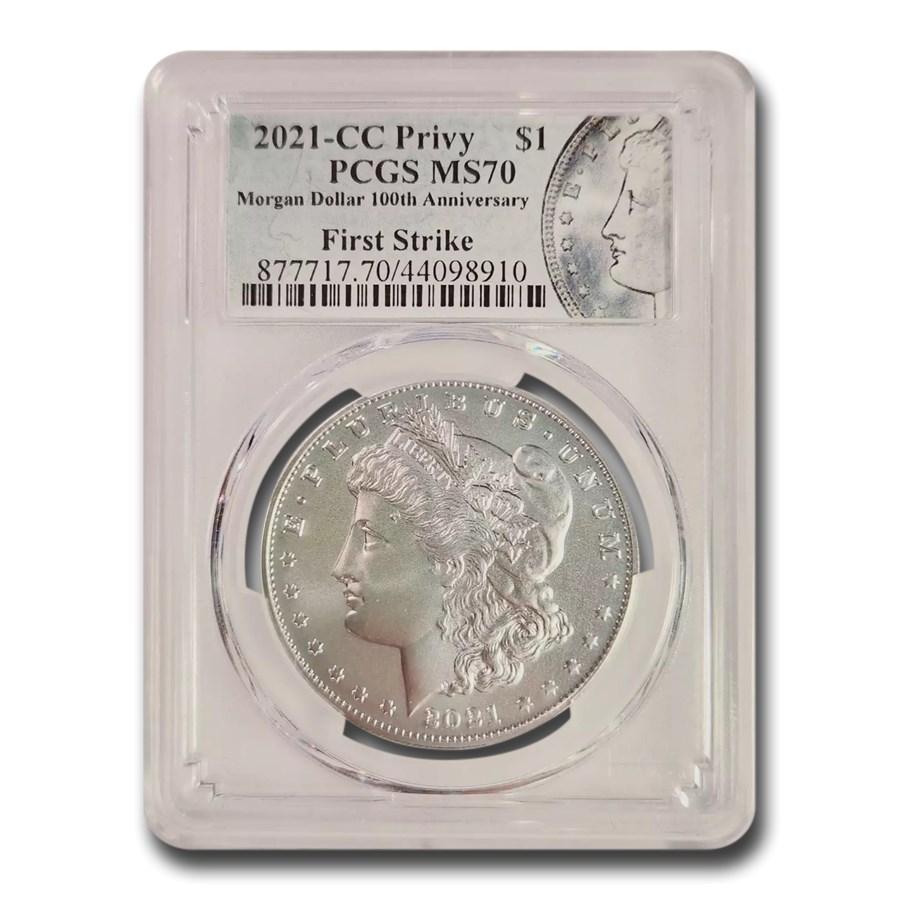 2021-(CC) Silver Morgan Dollar MS-70 PCGS (FirstStrike®)