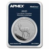 2021 Chad 1 oz Silver Mandala Antelope (MD Premier® Single)