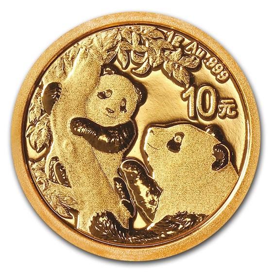 2021 China 1 gram Gold Panda BU (Sealed)