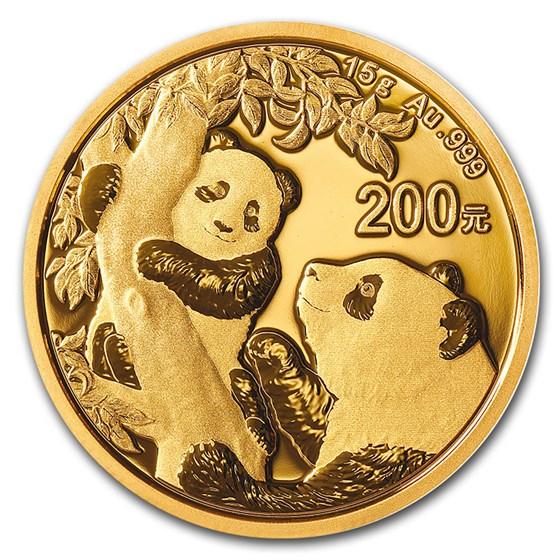 2021 China 15 gram Gold Panda BU (Sealed)