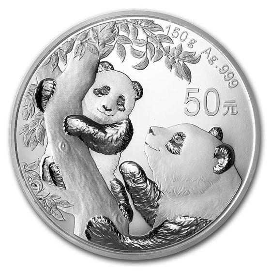 2021 China 150 gram Silver Panda Proof (w/Box & COA)