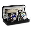2021 China 2-Coin 30 gram Silver Colorized Panda Day/Night Set