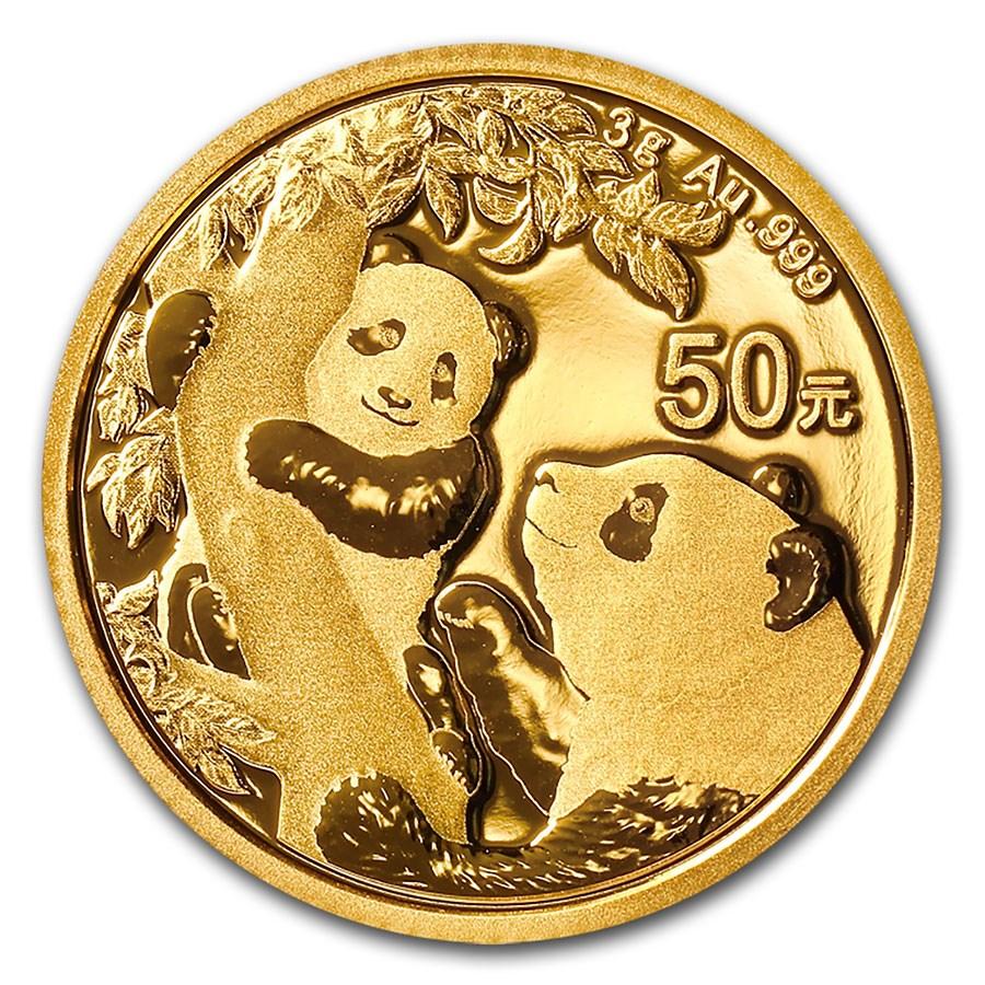 2021 China 3 gram Gold Panda BU (Sealed)