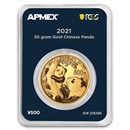 2021 China 30 gram Gold Panda (MD® Premier + PCGS FS Single)