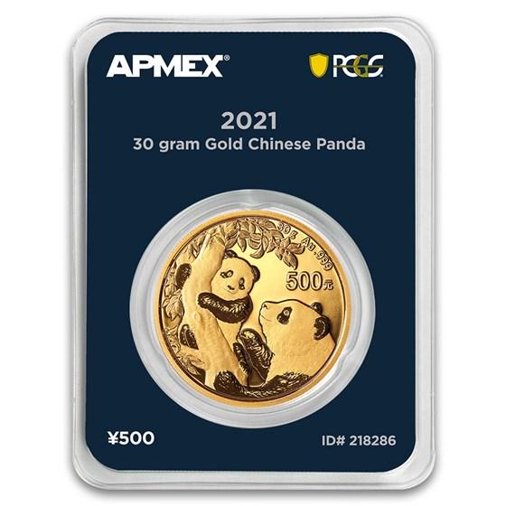 2021 China 30 gram Gold Panda (MD® Premier + PCGS FS Single)