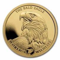 2021 Congo 1/2 gram Gold Proof World's Wildlife (Bald Eagle)