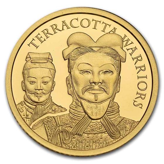 2021 Cook Islands 1/2 gram Gold Terracotta Warriors