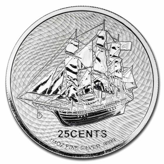 2021 Cook Islands 1/4 oz Silver Bounty BU