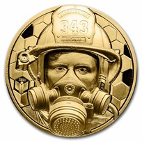 2021 Cook Islands 1 oz Gold Real Heroes: Firefighter