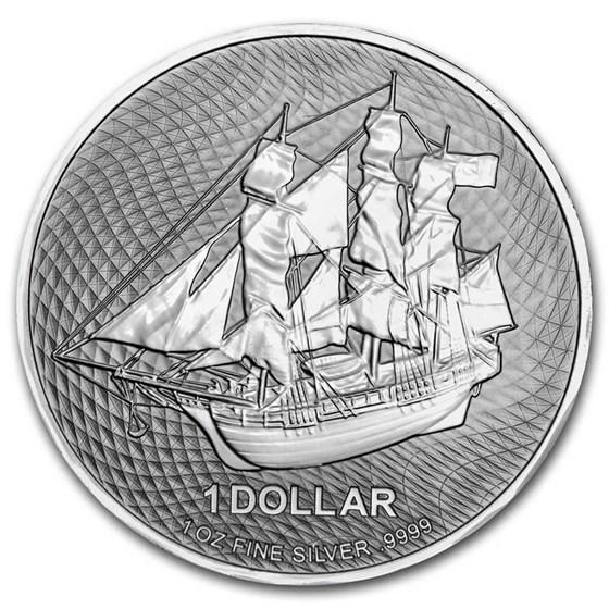 2021 Cook Islands 1 oz Silver Bounty Coin