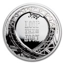 2021 Cook Islands 1 oz Silver Loop The Loop Roller Coaster