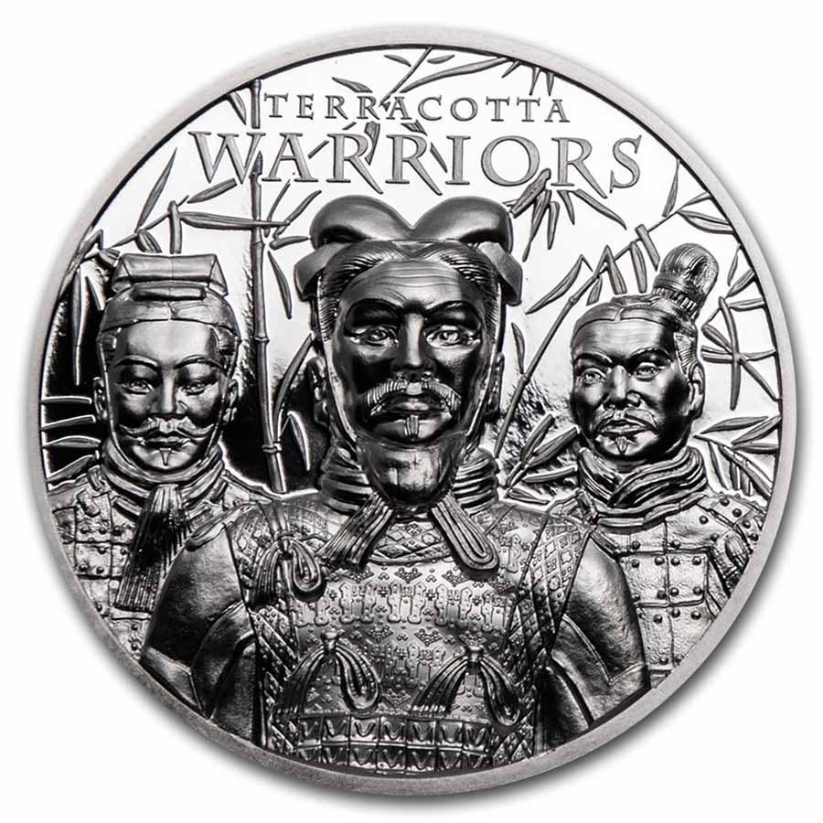 2021 Cook Islands 1 oz Silver Terracotta Warriors Proof