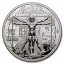 2021 Cook Islands 1 oz Silver X-Ray—Vitruvian Man