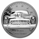 2021 Cook Islands 2 oz Silver Black Proof Classic Car