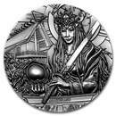 2021 Cook Islands 3 oz Silver Gods of the World: Amaterasu