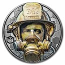 2021 Cook Islands 3 oz Silver Real Heroes: Firefighter
