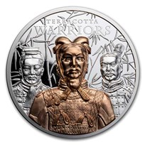 2021 Cook Islands 3 oz Silver Terracotta Warriors