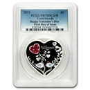 2021 Cook Islands Silver Happy Valentine's Day Heart PR-70 PCGS