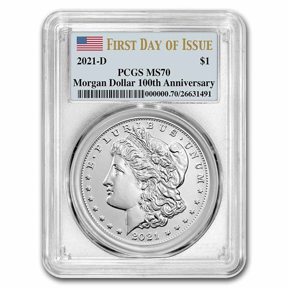 2021-D Silver Morgan Dollar MS-70 PCGS (First Day of Issue)