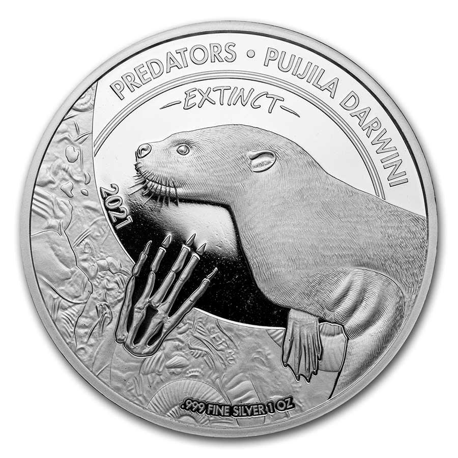 2021 Dem. Rep. of Congo Silver Extinct Predators Puijila Darwini