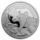 2021 Dem. Republic of Congo 1 oz Silver Predator Bag Wolf