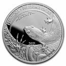 2021 Dem. Republic of Congo 1 oz Silver Predator Phelsuma Gigas