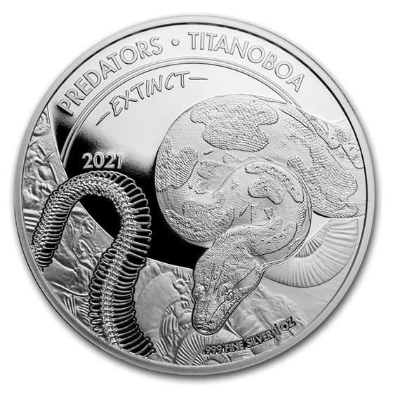 2021 Dem. Republic of Congo Silver Extinct Predators Titanboa