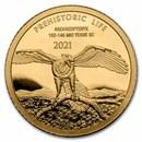 2021 Democratic Rep. of Congo 1/2 gram Gold Archaeopteryx BU