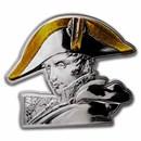 2021 Djibouti 5 oz Silver Napoléon Bonaparte Shaped Coin