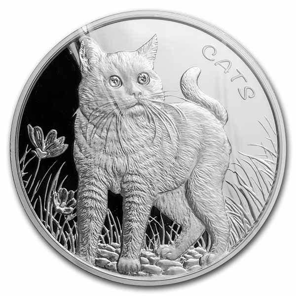 2021 Fiji 1 oz Silver Cat BU