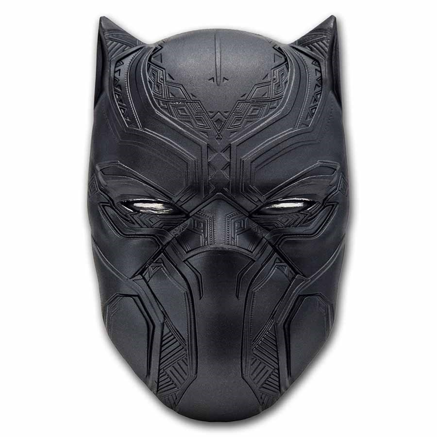 2021 Fiji 2 oz Silver Marvel Icon Series Black Panther Mask