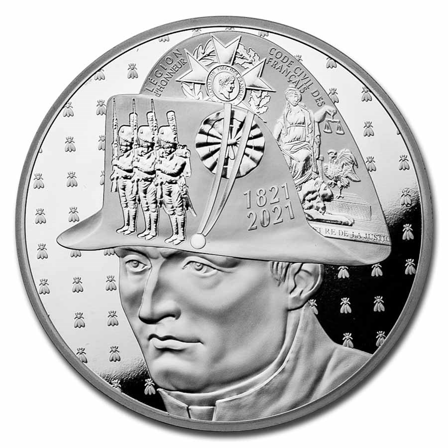2021 France 5 oz Ag €50 Bicentenary of Napoleon's Passing Away