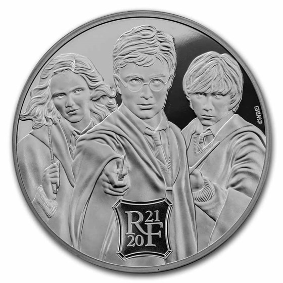 2021 France 5 oz Silver €50 Harry Potter (Three Wizards)