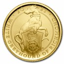 2021 GB 1/4 oz Gold Queen's Beasts Greyhound Proof (Box & COA)