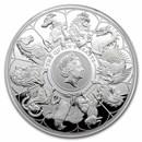 2021 GB 1 kilo Silver Queen's Beast Collector (w/Box, COA)