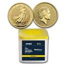 2021 GB 1 oz Gold Britannia (10-Coin MD® Premier Tube + PCGS FS)