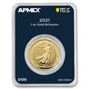 2021 GB 1 oz Gold Britannia (MintDirect® Premier + PCGS FS)