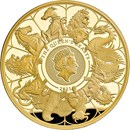 2021 GB 1 oz Gold Queen's Beasts Collector Proof (w/Box & COA)