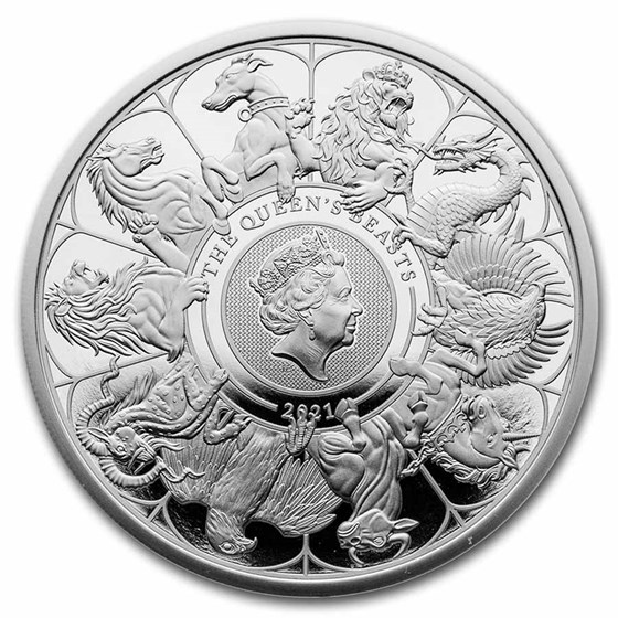 2021 GB 1 oz Silver Queen's Beasts Collector Proof (w/Box & COA)