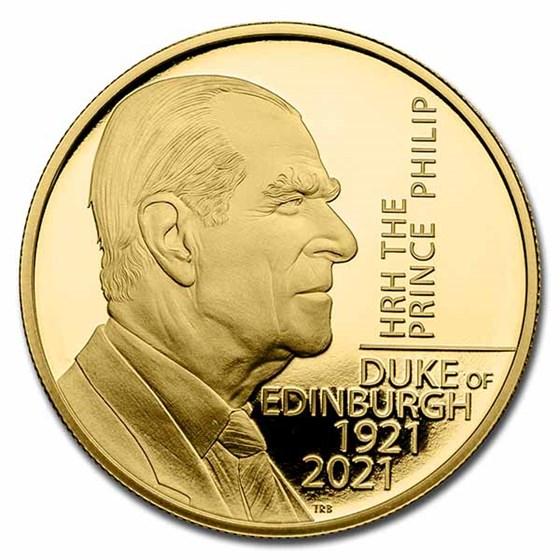 2021 GB £5 Gold The Prince Philip, Duke of Edinburgh Proof