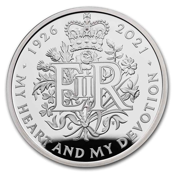 2021 GB £5 Silver Proof 95th Birthday of the Queen Piedfort