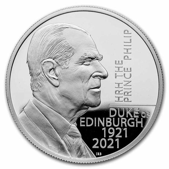 2021 GB £5 The Prince Philip, Duke of Edinburgh Silver Proof